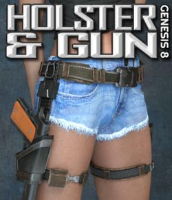 Exnem Holster & Gun for Genesis 8 Female