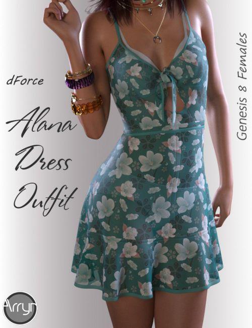 dForce Alana Candy Dress for Genesis 8 Female(s)