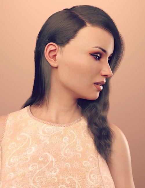 dForce Rozarie Hair for Genesis 8 & 3 Female(s)