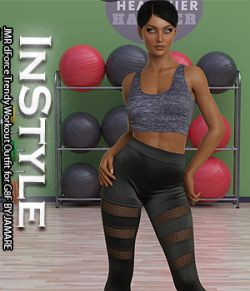 InStyle- JMR dForce Trendy Workout Outfit for G8F