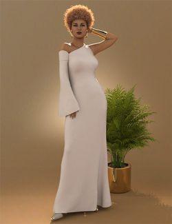 dForce One Sleeve Dress for Leisa 8 and Genesis 8 Female(s)