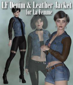 Denim and Leather Jacket for La Femme