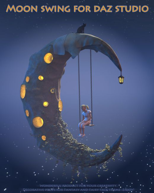 Moon swing for Daz Studio