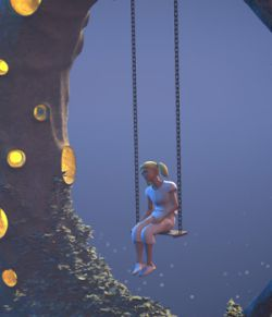 Moon swing for Daz Studio