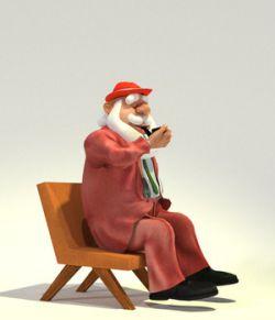 Fedoraville Santa for Poser