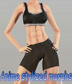 Anime stylized morphs for La Femme