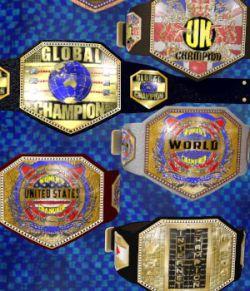 Championship Belt 3 for V4 (Poser 7+)