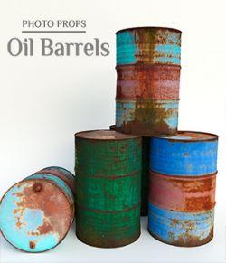 Photo Props: Oil Barrels
