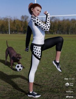 dForce Soccer Mom Outfit for Genesis 8 Female(s)