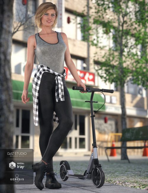 dForce Urban Casual Outfit for Genesis 8 Female(s)