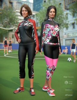 dForce Soccer Mom Outfit Textures