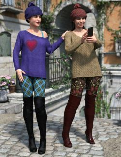 dForce Spice of Fall Outfit Textures