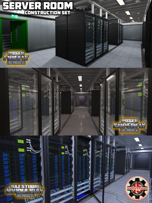 Server Room for Poser and DS