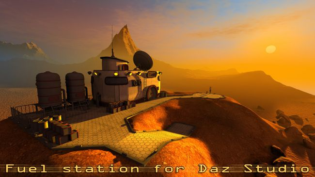 Fuel station for Daz Studio