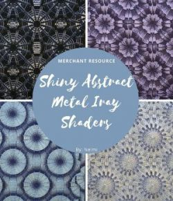 Shiny Abstract Metal Iray Shaders