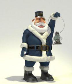 Conductor Santa for Poser