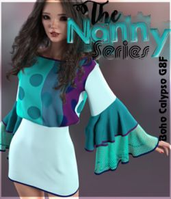 The Nanny Series:Boho Calypso Dress G8F
