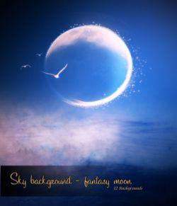 Sky background- fantasy moon