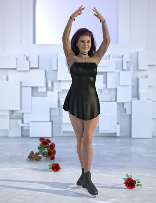 dForce Figure Skater Outfit for Genesis 8 Female(s)