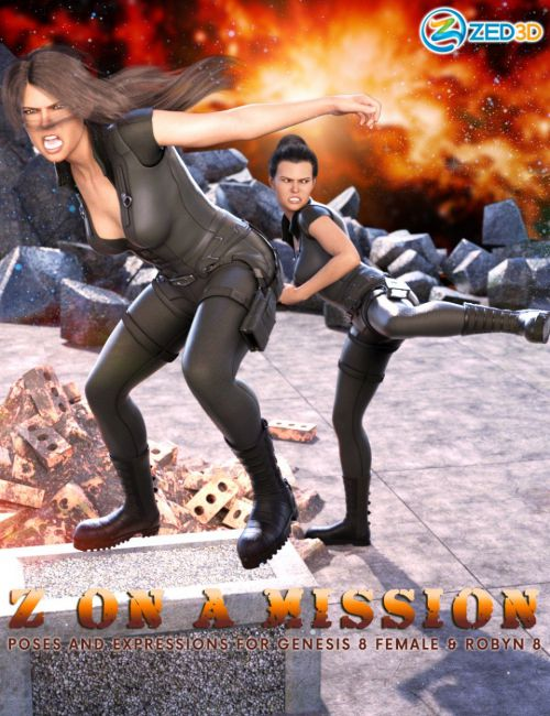 Z On a Mission Poses and Expressions for Robyn 8