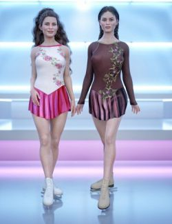 dForce Figure Skater Outfit Textures