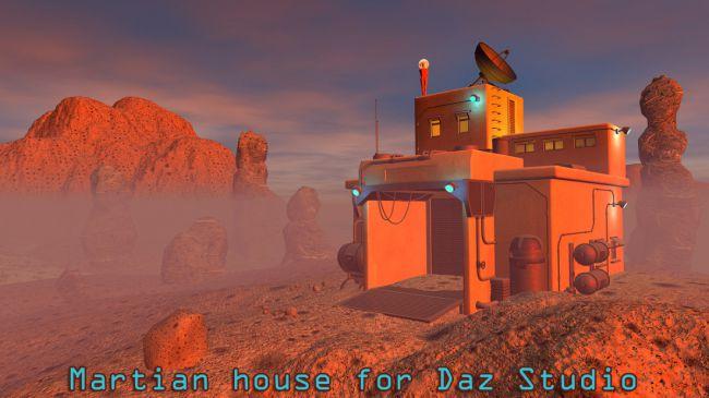 Martian house for Daz Studio