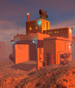 Martian house for Daz Studio