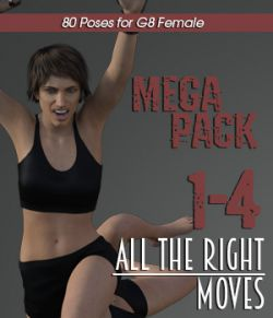 ALL THE RIGHT MOVES vol.1-4 MEGAPACK for Genesis 8 Female