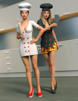 Good and Evil Chef Outfit And Poses For Genesis 8 Female(s)