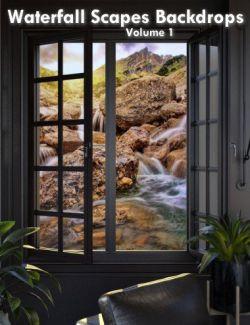 WaterfallScapes Backdrops Volume 1