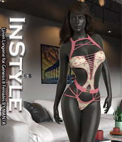 InStyle- Linen Lingerie for Genesis 8 Females