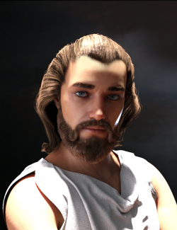 Yussef Hair Beard and Eyebrows for Genesis 8 Male(s)