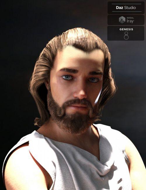 Yussef Hair Beard and Eyebrows for Genesis 8 Male(s)