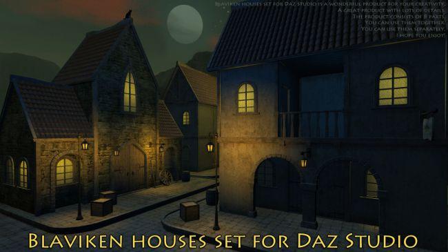 Blaviken houses set for Daz Studio
