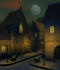 Blaviken houses set for Daz Studio