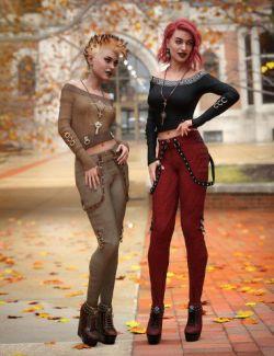 dForce Raven Black Outfit Textures