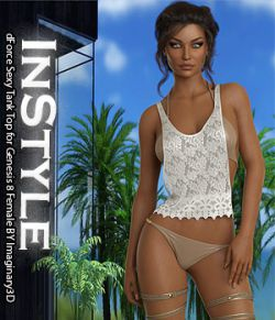 InStyle - dForce Sexy Tank Top for Genesis 8 Female