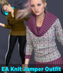 EA dforce Knit Jumper Outfit for Genesis 8 Female