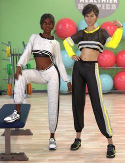 dForce Gym Brat Outfit Textures