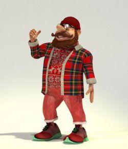 Hipster Santa for Poser