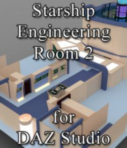 Starship Engineering Room 2 for DAZ Studio