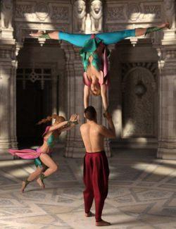 Acrobat - Gymnastics and Tumbling Poses for Genesis 8