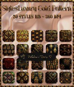 Styles Luxury Gold Pattern