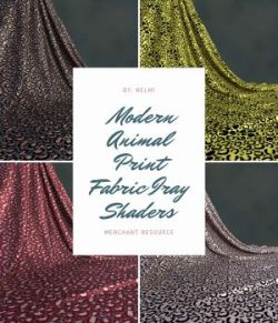 Modern Animal Print Fabric Iray Shaders