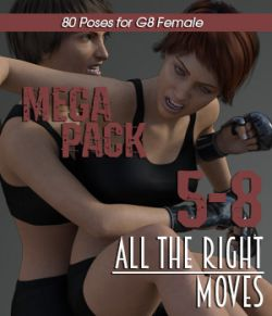 ALL THE RIGHT MOVES vol.5-8 MEGAPACK for Genesis 8 Female