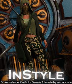 InStyle- SC Wastelander Outfit for Genesis 8 Female