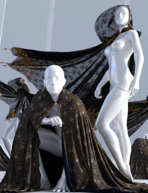 SsC dForce Raiding Cloak for Genesis 3 and 8
