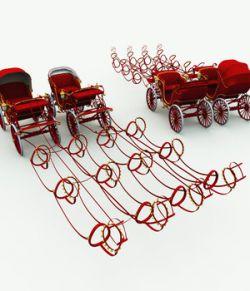 Christmas Phaeton Carriage for Poser