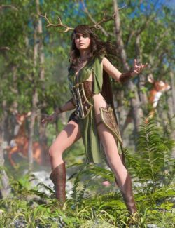 dForce Wood Warden for Genesis 8 Female(s)