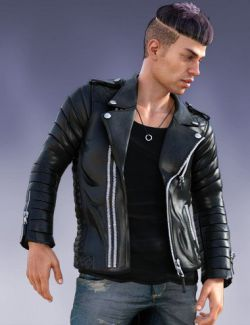 Pop Star Outfit and Hair for Diego 8 and Genesis 8 Male(s)